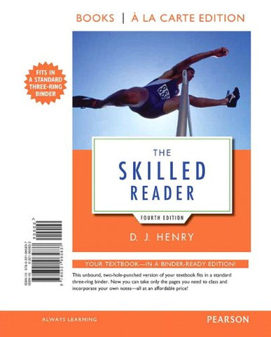 The Skilled Reader, Books A La Carte Edition (4Th Edition)
