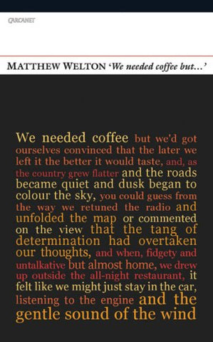 'We Needed Coffee But . . .' (Poetry Book Society Recommendation)