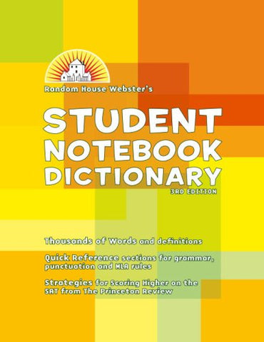 Random House Webster'S Student Notebook Dictionary, Third Edition - Basic