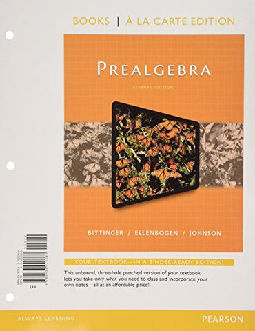 Prealgebra, Books A La Carte Edition (7Th Edition)
