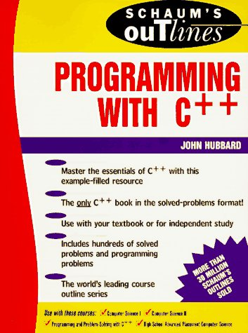 Schaum'S Outlines - Programming With C++