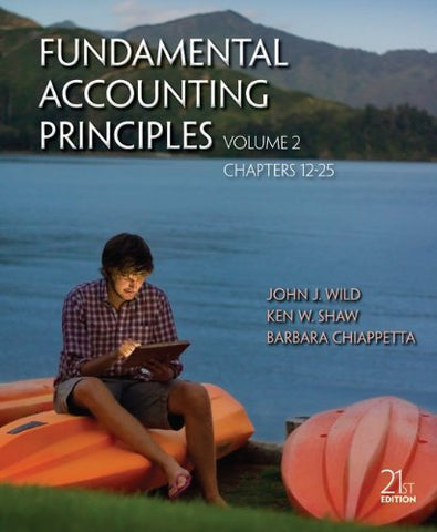 Fundamental Accounting Principles Vol 2 With Connect Access Card