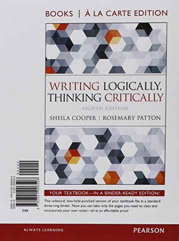 Writing Logically Thinking Critically, Books A La Carte Plus Mylab Writing -- Access Card Package (8Th Edition)
