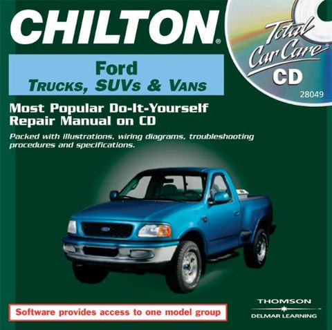 Total Car Care Cd-Rom: Ford Trucks, Suvs & Vans, 1986-2000 Jewel Case (Chilton Total Car Care Series Cds)
