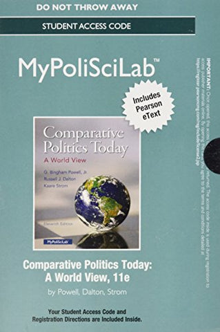 New Mylab Political Science With Pearson Etext - Standalone Access Card - For Comparative Politics Today: A World View (11Th Edition)