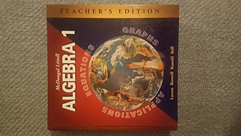 Mcdougal Littell Algebra 1: Applications, Equations, Graphs, Teacher'S Edition