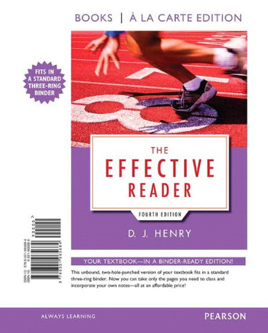 The Effective Reader, Books A La Carte Edition (4Th Edition)