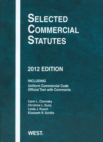 Selected Commercial Statutes, 2012