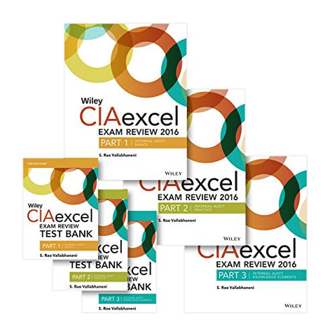 Wiley Ciaexcel Exam Review + Test Bank 2016: Complete Set (Wiley Cia Exam Review Series)