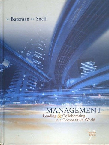 Management Leading And Collaborating In A Competitive World