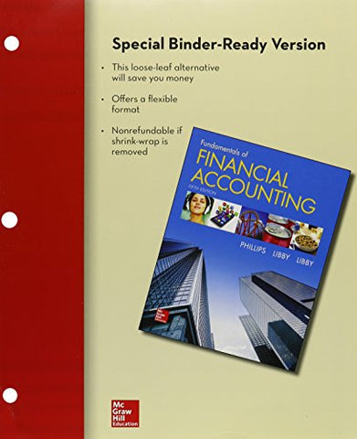 Loose-Leaf For Fundamentals Of Financial Accounting With Connect