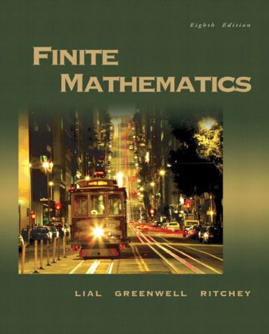 Finite Mathematics (8Th Edition)