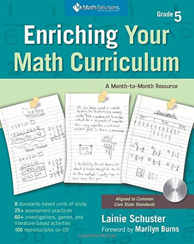 Enriching Your Math Curriculum, Grade 5: Fifth-Grade Math: A Month-To-Month Guide (Includes Book And Cd)