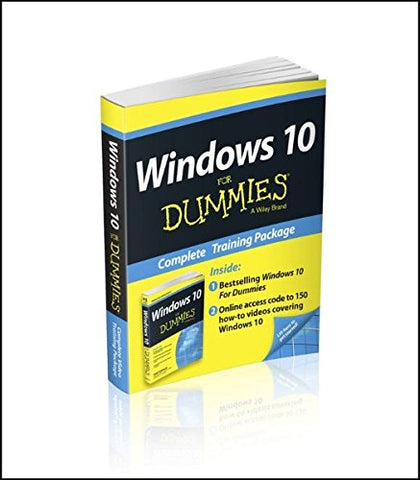 Windows 10 For Dummies Book + Online Videos Bundle