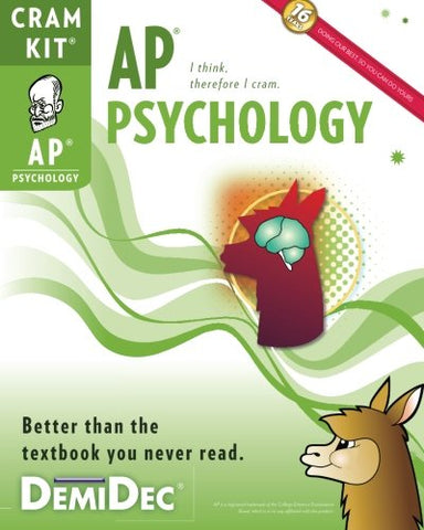 Ap Psychology Cram Kit: Better Than The Textbook You Never Read.