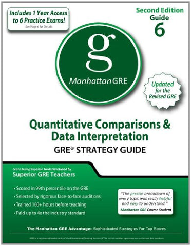 Quantitative Comparisons & Data Interpretation Gre Strategy Guide, 2Nd Ed (Manhattan Gre Strategy Guides)