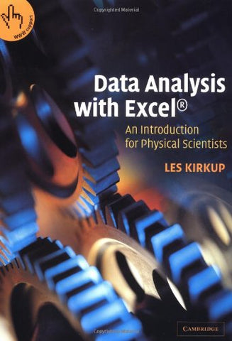 Data Analysis With Excel: An Introduction For Physical Scientists