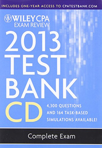 Wiley Cpa Exam Review 2013 Test Bank Cd, Complete Set