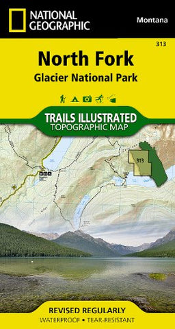 North Fork: Glacier National Park (National Geographic Trails Illustrated Map)