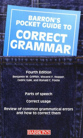Pocket Guide To Correct Grammar (Barron'S Pocket Guides)
