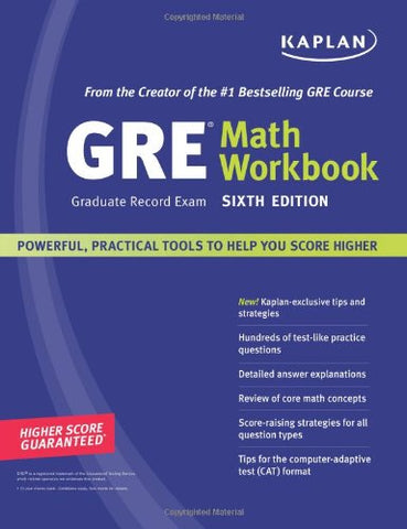Kaplan Gre (Graduate Record Exam) Math Workbook, Sixth Edition