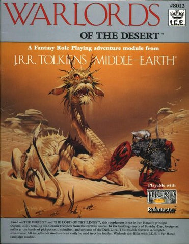 Warlords Of The Desert (Middle Earth Game Supplements, Stock No. 8012)