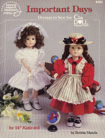 Important Days: Dresses To Sew For The Craft Doll Collection (8403)