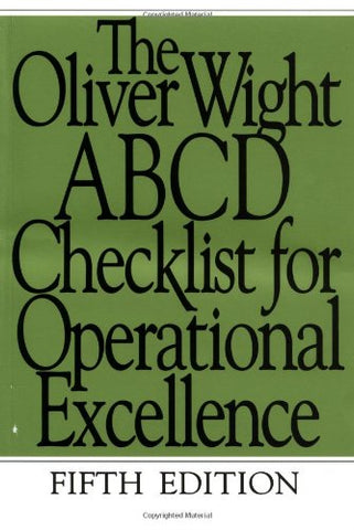 The Oliver Wight Abcd Checklist For Operational Excellence