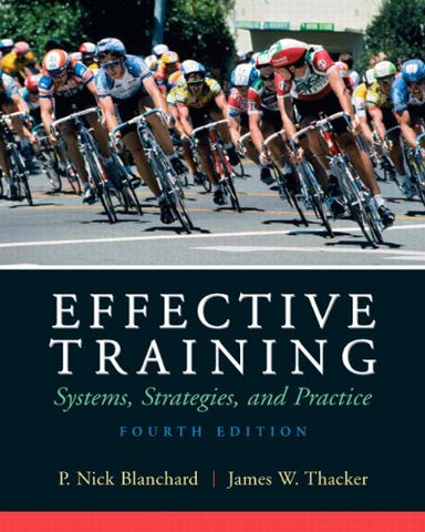 Effective Training (4Th Edition)
