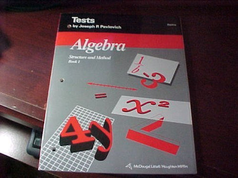 Mcdougal Littell Structure & Method: Tests (Blackline) With Answer Key Book 1