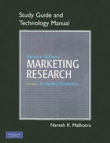 Tech Manual For Spss, Excel And Sas For Marketing Research: An Applied Orientation
