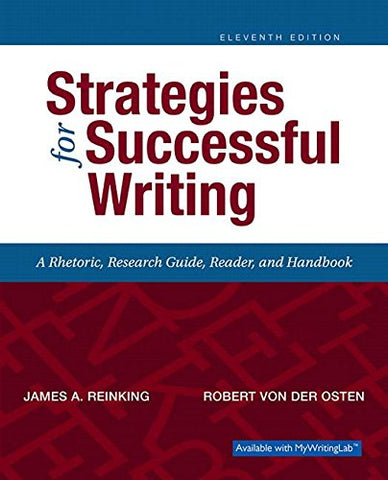 Strategies For Successful Writing (11Th Edition)