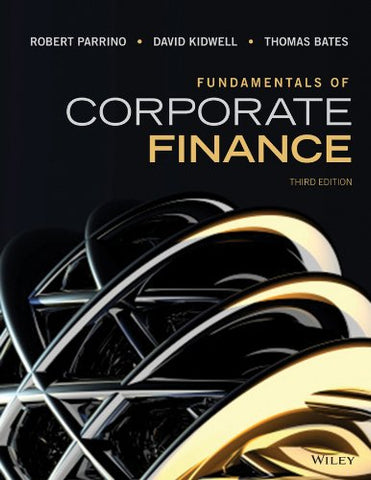 Fundamentals Of Corporate Finance 3E + Wileyplus Registration Card