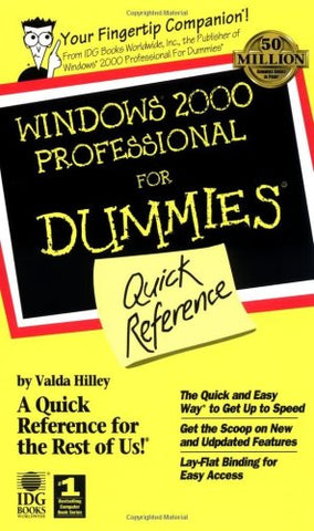 Windows 2000 Professional For Dummies Quick Reference (For Dummies: Quick Reference (Computers))
