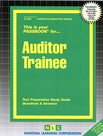 Auditor Trainee(Passbooks) (Passbook For Career Opportunities)