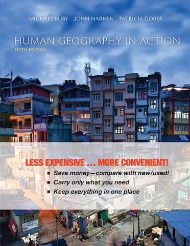 Human Geography In Action 6E Binder Ready Version+ Wileyplus Registration Card