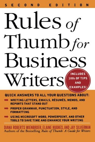 Rules Of Thumb For Business Writers