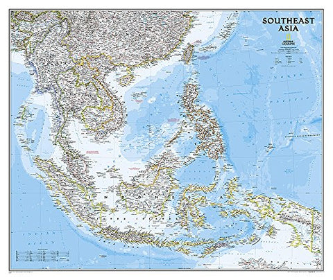 National Geographic: Southeast Asia Classic Wall Map (38 X 32 Inches) (National Geographic Reference Map)