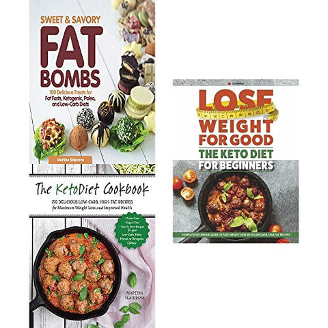 Sweet And Savory Fat Bombs, Ketodiet Cookbook And Keto Diet For Beginners 3 Books Collection Set