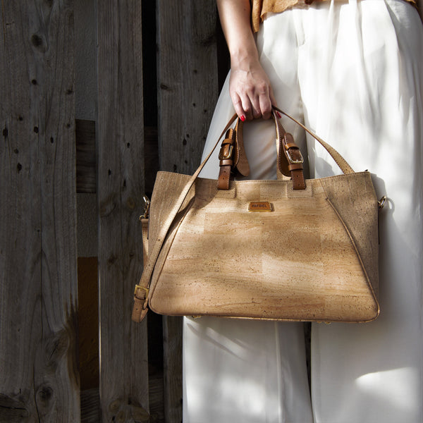 back to work cork handbags made in portugal eco friendly