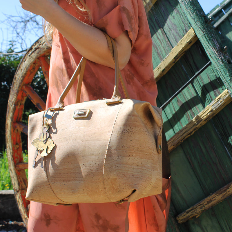 Cork Handbag 3in1 Camel Marilyn