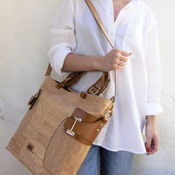Tall Natural Cork Tote Bag - Shop now at StudioCork
