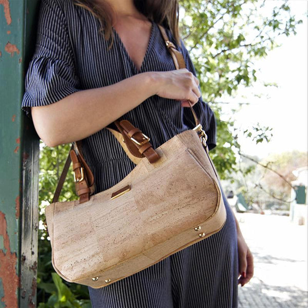 Natural Cork Woman Short Handbag & Crossbody Bag - Shop now at StudioCork