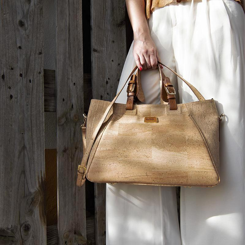 Natural Cork Woman Tote Bag - Shop now at StudioCork