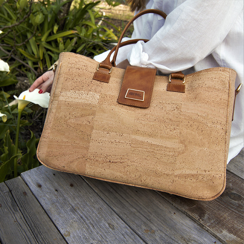 Natural Cork Briefcase - Shop now at StudioCork