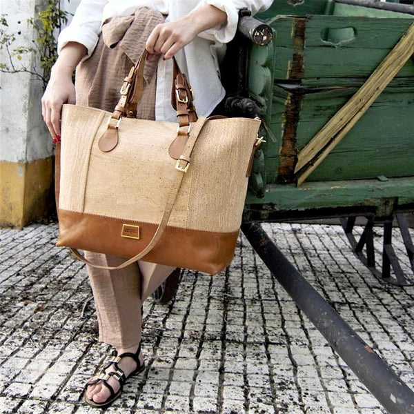 Natural Cork Classic Woman Tote Bag - Shop now at StudioCork