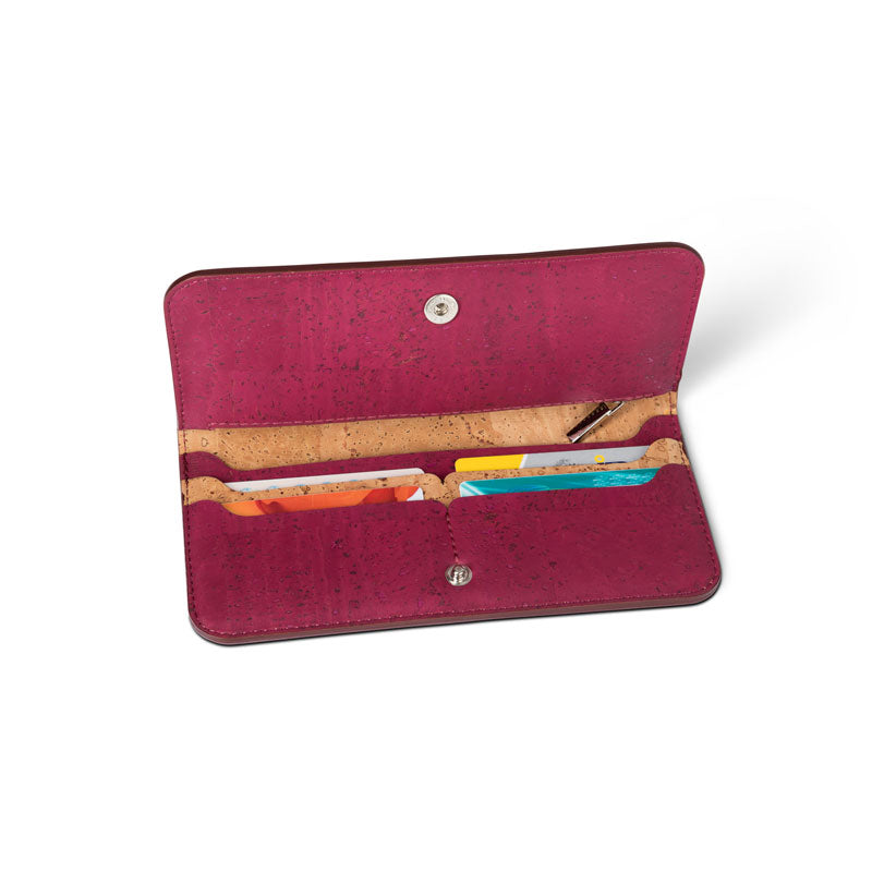 Cork Slim Wallet Eggplant - Shop now at StudioCork