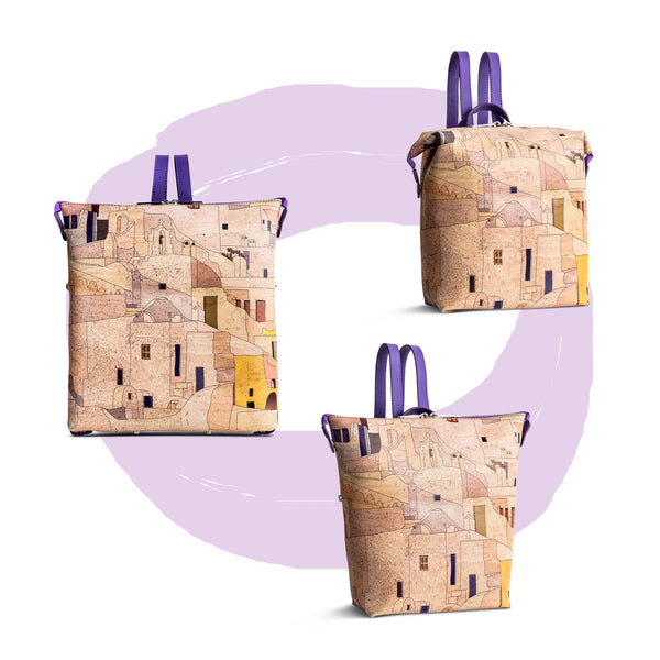 Convertible Cork Backpack Circles - Shop now at StudioCork