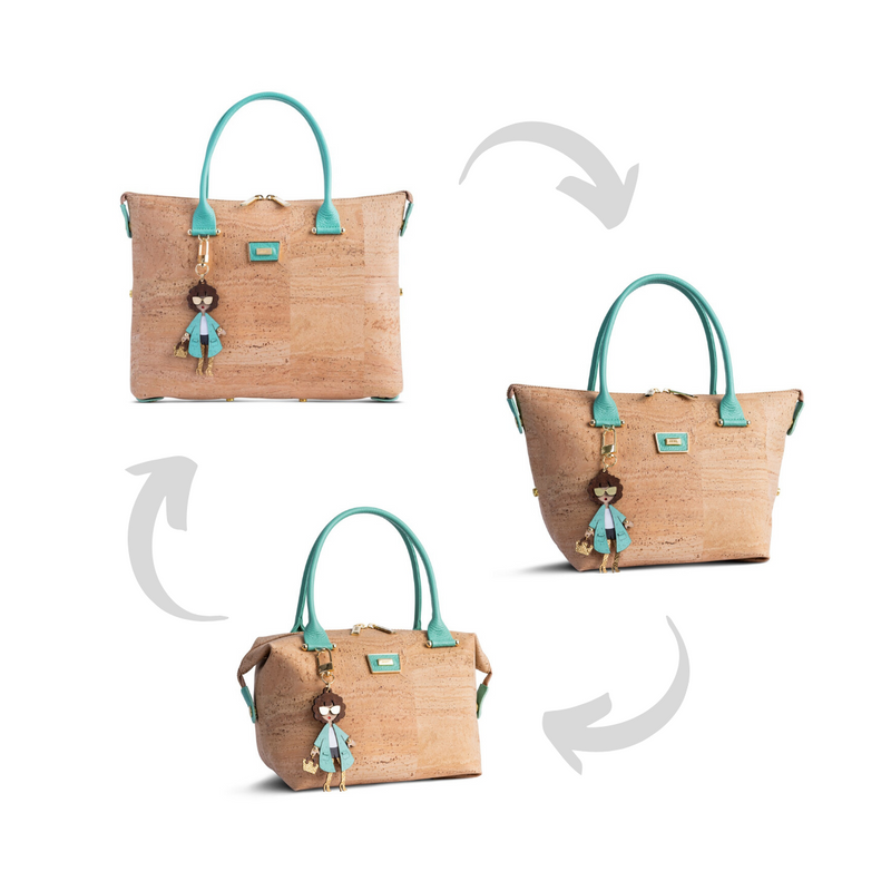 Mini Cork Handbag 3in1 Natural and Multiple Colors - Shop now at StudioCork