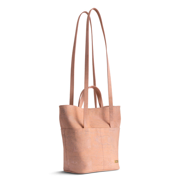 Minimal Cork Crossbody Tote Bag - Peach Color - Shop now at StudioCork